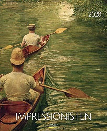 Impressionisten 2020: Kunstkalender mit Werken aus dem Impressionismus. Wandkalender mit Meisterwerken der Epoche. Format: 36 x 44 cm, Foliendeckblatt