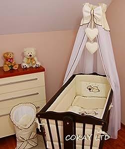 cokay ltd bettw sche set f r babybett mit umlaufendem sto schutz laken decke betthimmel. Black Bedroom Furniture Sets. Home Design Ideas