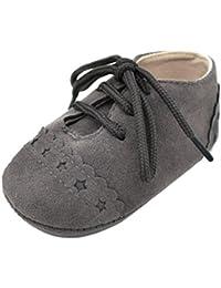 Amlaiworld_Primeros pasos Zapatos De Bebé, niño niña zapatillas de bebé antideslizante de encaje ...