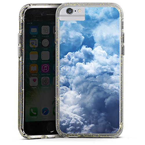 Apple iPhone 7 Plus Bumper Hülle Bumper Case Glitzer Hülle Wolken Himmel Landschaft Bumper Case Glitzer gold