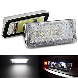 1 Paar Lampen zur Kennzeichenbeleuchtung von Katur, Qook-weiß, 18LED-Leuchten, e46 4d 98-03, zum Auto-Styling, als Auto-Lampe, KFZ-Lampe