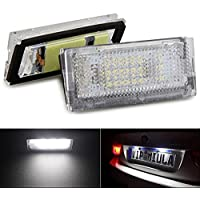 Bombillas para luces para matrícula KATUR, luz blanca 18LED, compatibles con BMW, aportan estilo a tu coche, pack de 2unidades