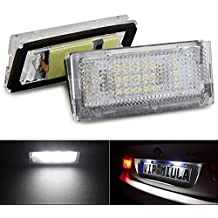 Katur Bombillas para luces de matrícula, luz blanca 18LED, compatibles con BMW E464D 98-03, proporcionan estilo a tu coche, pack de 2unidades