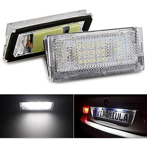 katur 1paio qook Bianco 18LED luci targa lampade lampadine per BMW E464d 98–03per auto LED lampadina per auto