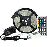 KSHI Wasserdicht RGB LED Strip Licht Streifen 5m Band Leiste mit 300 LEDs SMD 3528, Wasserdicht