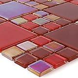 Glasmosaik Fliesen Rot Elox