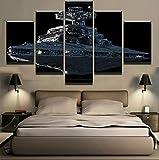 North King Wandgemälde Wand Kunst Dekor HD Moderne Leinwand Malerei Malerei fünf Star Wars Empire Star Destroyer