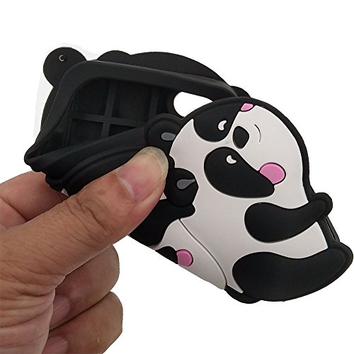 iPhone 6/6S Plus Hülle, BENKER Hochwertig Schlagfeste und Kratzfeste Weich Silikon Kreativ 3D Cartoon Telefon Fall - Schwarze Bart Katze Panda