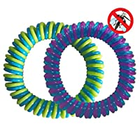 Buddsbuddy Combo of 2 Insect Repellent Band (Purple & Green)