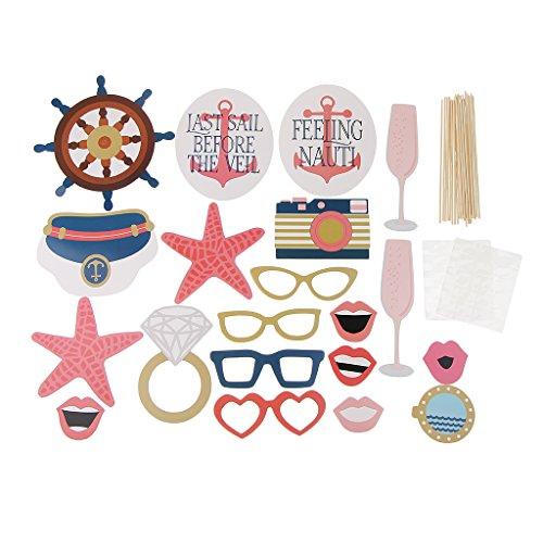 D DOLITY 20x Interessant Photo Booth Props Foto Maske Foto Requisiten für Kinder Lieben Pirate zum Party Weihnachten und Geburtstag