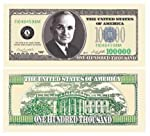 $100,000.00 CASINO PARTY MONEY featuring Harry S. Truman (10 bills)