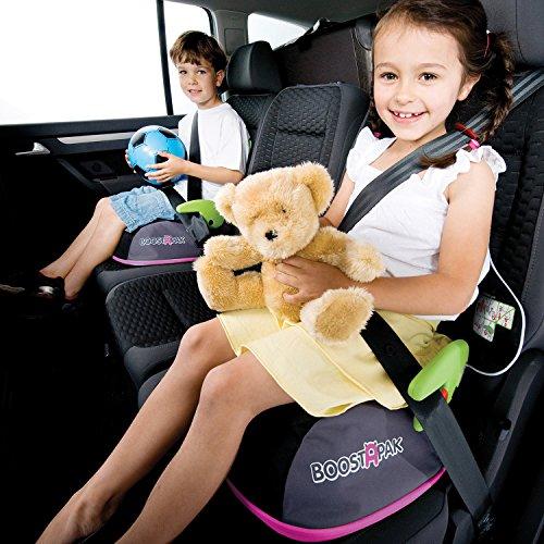 Imagen para Trunki BoostApak - Mochila de viaje, Asiento alzador de viaje portátil y silla coche grupo 2 3 (Rosa)