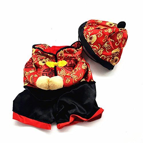 SE New Year Stil Kostüm Jumpsuit Coat Haustiere Hunde Katzen Winter Kleidung (wie IT 'S A Winter Coat, empfehlen wir Ihnen bestellen Sie One More größer als Sie Messen) (Chinese New Year Dog Kostüm)