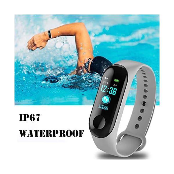WISHDILO Pulsera de seguimiento de actividad física, monitor de ritmo cardíaco, pulsera inteligente para deportes al aire libre, podómetro impermeable con monitor de sueño para niños, damas y hombres, pulsera deportiva para contador de calorías 2