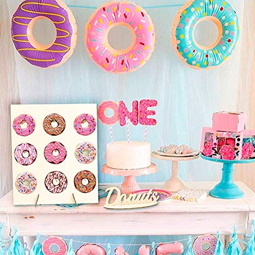Donut Wand, Candy Behandeln Display Süßigkeiten Wagen Hochzeitsdekoration DIY Wüste Baby Dusche Party Geschenk Ständer Brett Holz Basteln Geburtstag - Wie Abgebildet Show, Free Size - Donut-display