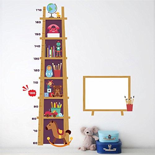 Weaeo Kinder Höhe Maßnahme Wandaufkleber Für Kinderzimmer 3D Wirkung Schrank Wachstum Diagramm Whiteboard Wandtattoos Kunst Poster Wandbild