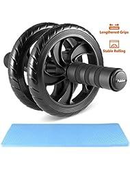 Pulchra AB Roller Wheel, perdre du ventre Graisse, la force de construction de muscles, Strong-grip & Silent abdominal exercice Rouleaux Roues, ventre équipement d'entraînement fitness ou pour AB s'Étire avec tapis de genou