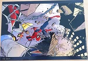 Spider-Man & Goldorak - Marvel - Toei Go Nagai & Nhieu N°/S 200Ex - 21X30 Cm Affiche / Poster