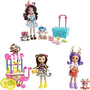 Enchantimals - Picnic en el parque Pack de 3 muñecas con mascotas (Mattel FVJ80)