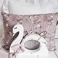 Preisvergleich für Here&There Kinder Schwan Sparschwein aus Holz Kind Spardose Baby Geld zu sparen Kinderzimmer Deko für Mädchen und Junge Einsparung (pink)