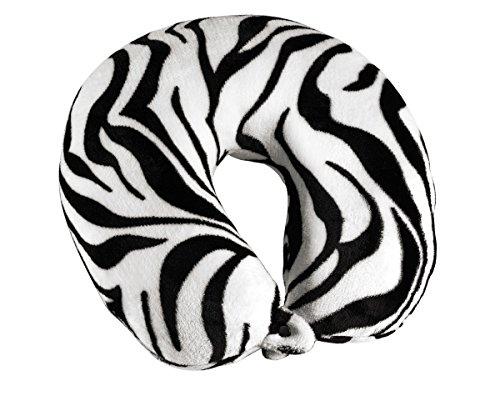travel-smart-by-conair-ts015zbr-fleece-covered-fiberfill-zebra-neck-rest
