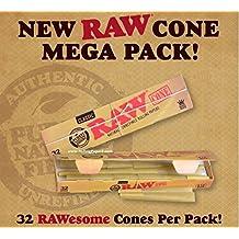 RAW Classic Set de 32 Pre conos de cama de matrimonio temporada totalmente preparado papel Natural Rolling - Nuevo diseño del RAW se venden por Trendz