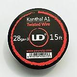 DIY-24H - UD Youde 5 Meter Twisted Wire 28GAx3 Wickeldraht Selbstwickler Kanthal A1 Draht für Verdampfer
