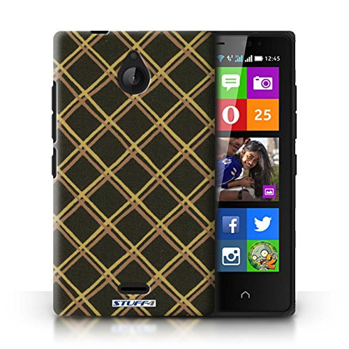 Kobalt® Imprimé Etui / Coque pour Nokia X2 Dual Sim / Vert/Bleu conception / Série Motif Entrecroisé Jaune/Noir
