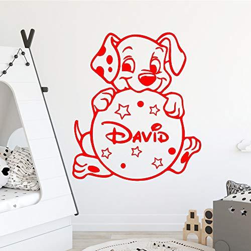 caowenhao Abnehmbarer Hund Wohnkultur Wohnzimmer Kinderzimmer Kunst Aufkleber rot XL 57 cm X 65 cm - Doodle-pop-art