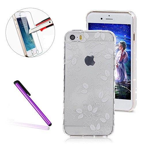 iPhone SE Case Slim,iPhone SE Hülle Transparent,iPhone SE Hülle Glitzer,iPhone 5S Clear Flüssige Hart Case Hülle Klare Plastik Gel Schutzhülle Rückschale Etui für iPhone 5,iPhone 5S Hülle Kreative Liq TPU 23