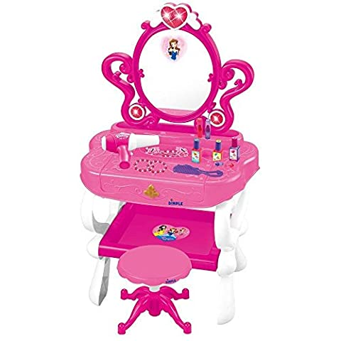 Dimple Princess Piano Fashion & Makeup Vanity with Stool DC11607 by Dimple