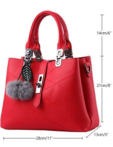 Menschwear Damen Handtasche Marken Handtaschen Elegant Taschen Shopper Reissverschluss Frauen Handtaschen Schwarz Rot-wien