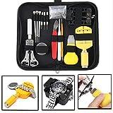 Uhren Reparatur Tool, MeetYours 144 Pcs Professionelles Uhrenwerkzeug Set Watch Repair Kit Set Tasche Reparatur Set Uhrenmacherwerkzeug in Schwarze Nylontasche