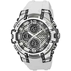UPhasE Quartz Watch with White Dial Analogue-Digital Quartz Chronograph, 704-100 up