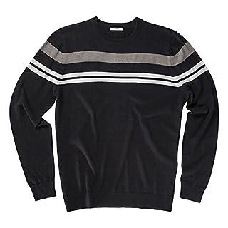 AUR Chest Stripe Herren Golf Pullover - schwarz, S