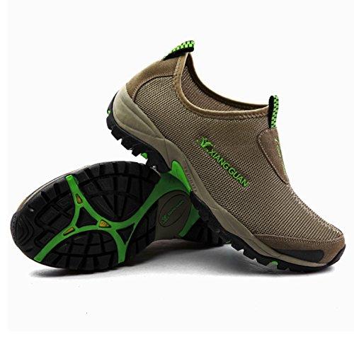 XIANG GUAN Outdoor Chaussures Slip-On Course Sports Empeigne en Mesh Respirante et Légère Mixte Adulte Vert