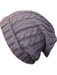Oversized Cable Knit Baggy Baggie Beanie Long Hat Various Colours
