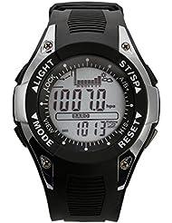 Sunroad fx702a2reloj de pulsera pesca barómetro altímetro termómetro digital reloj deportivo plata
