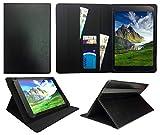 Bush Spira B3 10 Inch HD Tablet PC Black Universal Wallet Case Cover Folio ( 10 - 11 inch ) by Sweet Tech