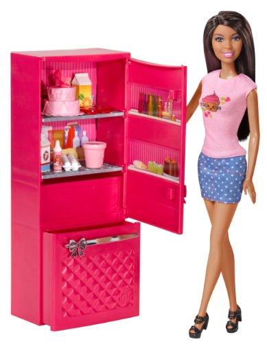Preisvergleich Produktbild Barbie African-American Doll and Fridge Set