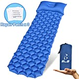Inflatable Sleeping Pad With Pillow - Compact Ultralight Camping Mats - Lightweight