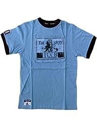 Men's ECB Official England Cricket Retro T-Shirt Printed Logo Patch Cotton Top