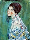 Poster 60 x 80 cm: Bildnis Einer Dame von Gustav Klimt - hochwertiger Kunstdruck, neues Kunstposter