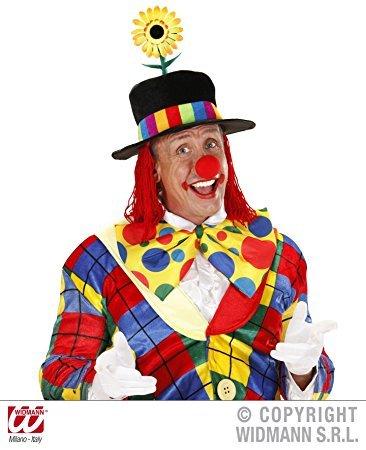 Widmann wdm9510F–Zylinder Clown aus Samt mit Sonnenblume und Haar, Mehrfarbig, One (Ideen Kostüm Zirkus)