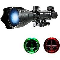 TOMSHOO Lunettes de visée Riflescope 4-16x50 Lumineux de Réticule Rouge  Vert avec 22mm Supports 0b46189027c7