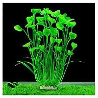 ANTOLE Aquarium Decorations Plants-Fish Tank Decor Plants Plastic Water Plants Green Artificial Aquatic Plant Fish Accessories (Green)