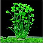 ANTOLE Aquarium Decorations Plants-Fish Tank Decor Plants Plastic Water Plants Green Artificial Aquatic Plant Fish Accessori