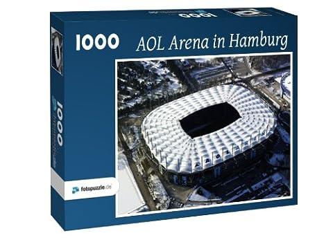AOL Arena in Hamburg - Puzzle 1000 Teile mit Bild von oben