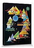 1art1 81776 Wassily Kandinsky - Spitzen Im Bogen, 1927 Poster Leinwandbild Auf Keilrahmen 80 x 60 cm
