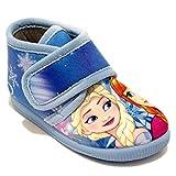 Zapatillas de Bota con Velcro de Dibujos Frozen - Azul Cielo, 22